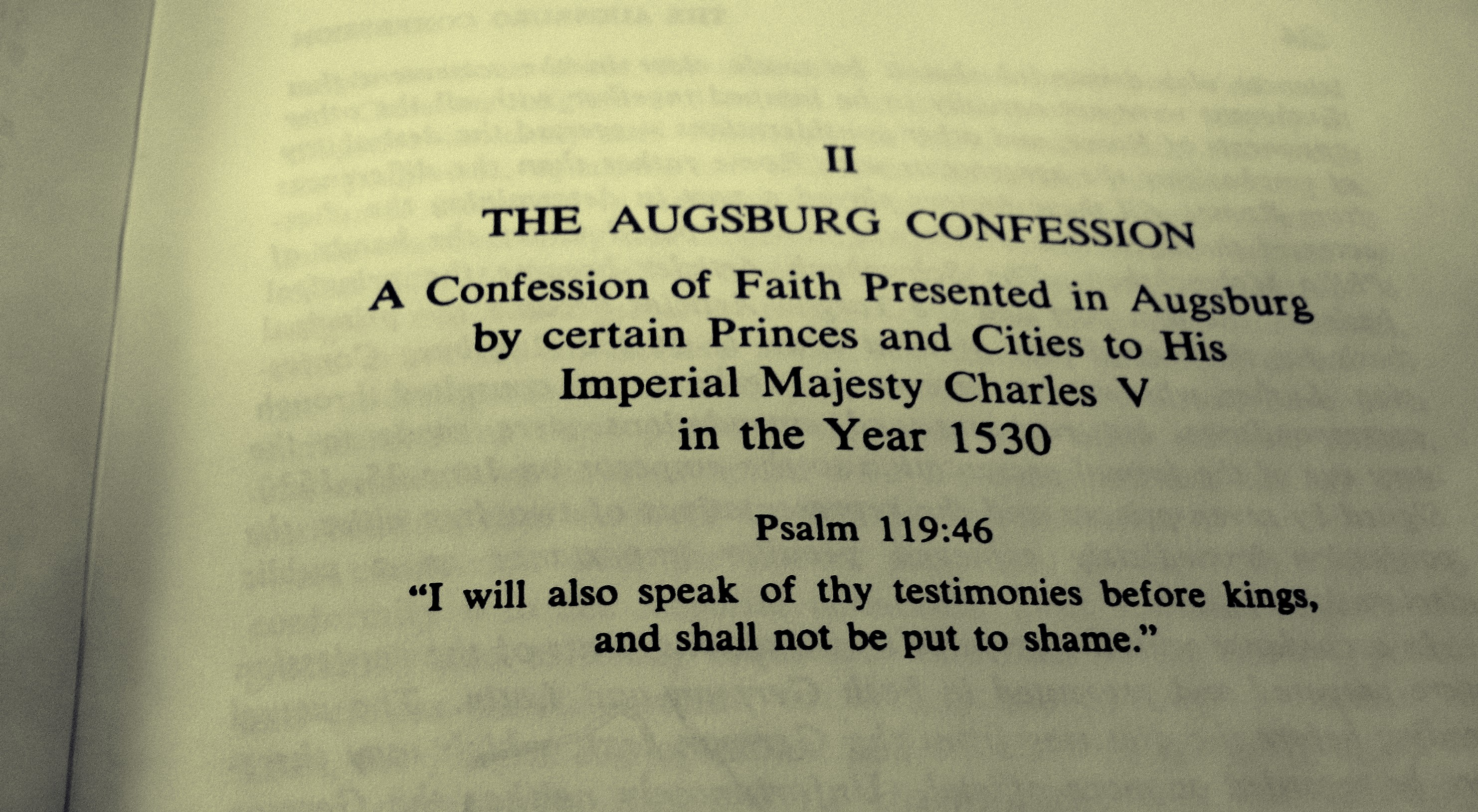 Lutheran Beliefs: The Augsburg Confession | Immanuel ...